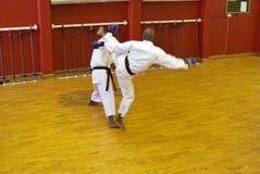 Karate fight stock photos