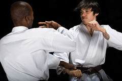 Karate fight Royalty Free Stock Image