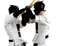 Karate fight ( kumite), sports series Stock Photography