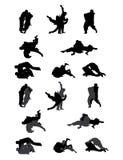 Karate fight Martial Art Sport. Illustration art vector design Stock Image