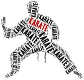 Karate fighter. Martial arts concept. Word cloud illustration Royalty Free Stock Photography