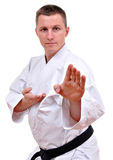 Karate fighting stock images