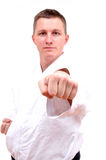 Karate fighting stance Royalty Free Stock Photography