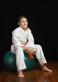Karate fitness girl Stock Image