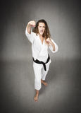 Karate frontal combat Stock Images