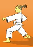 Karate Gi girl Stock Images