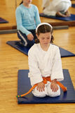 Karate girl Royalty Free Stock Photo