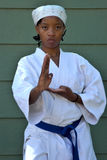 Karate Girl Stock Images