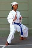 Karate girl stock photo