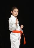 Karate girl Stock Image