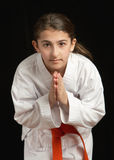 Karate girl Royalty Free Stock Image