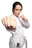 Karate girl stock photography