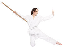 Karate girl Stock Photos