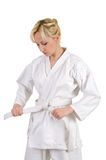 Karate girl. Royalty Free Stock Photography