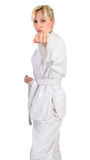 Karate girl. Stock Photo