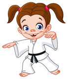 Karate girl vector illustration