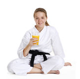 Karate girl. Royalty Free Stock Photos
