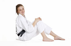 Karate girl. Royalty Free Stock Image