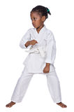 Karate girl Royalty Free Stock Photography