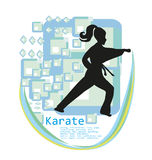 Karate girl design Stock Image