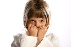 Karate Girl In Kimono, Stock Image