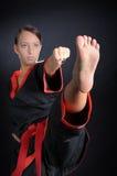 Karate Girl in Kimono Stock Photo
