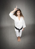 Karate girl loser Royalty Free Stock Photos