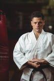 Karate gracza ćwiczyć obrazy stock