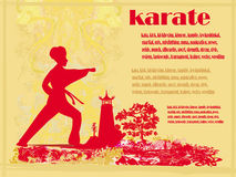 Karate Grunge card Royalty Free Stock Images