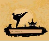 Karate Grunge poster Stock Photos