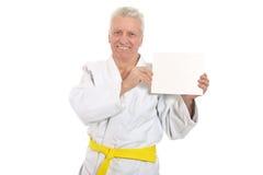 Karate Hogere mens royalty-vrije stock afbeelding