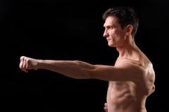 Karate. Hombre en un kimono Fotografía de archivo libre de regalías