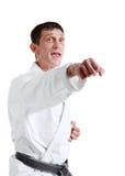 Karate. Hombre en un kimono Foto de archivo