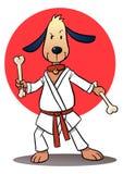 Karate-Hund Stockfotografie