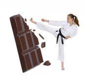 Karate i czekolada. Zdjęcie Stock