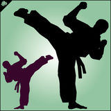 karate Il Taekwondo Kung-fu Alta scossa bambini cinesi di KONGFU Immagine Stock