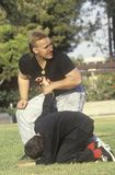 Karate instructor with Student, Los Angeles, CA Royalty Free Stock Photography