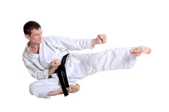 Karate jump Royalty Free Stock Photos
