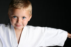 Karate-Junge Stockfotografie