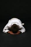 karate kłonienie ucznia young zdjęcia royalty free