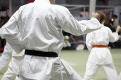 Karate kata Stockfotos