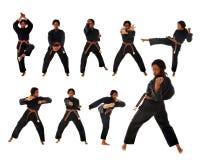 karate kata Στοκ φωτογραφία με δικαίωμα ελεύθερης χρήσης
