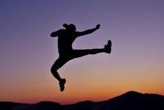Karate kick Stock Photo