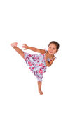 Karate kick. Royalty Free Stock Images