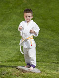 Karate kid Royalty Free Stock Images