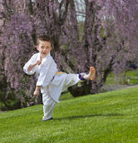 Karate kid Royalty Free Stock Photos