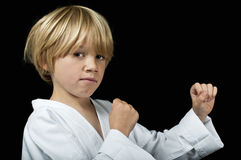 Karate kid royalty free stock photos
