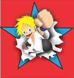 Karate Kid Στοκ Φωτογραφίες