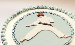 Karate Kid-Cake stock fotografie