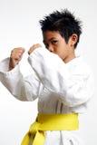 Karate Kid joven imagenes de archivo